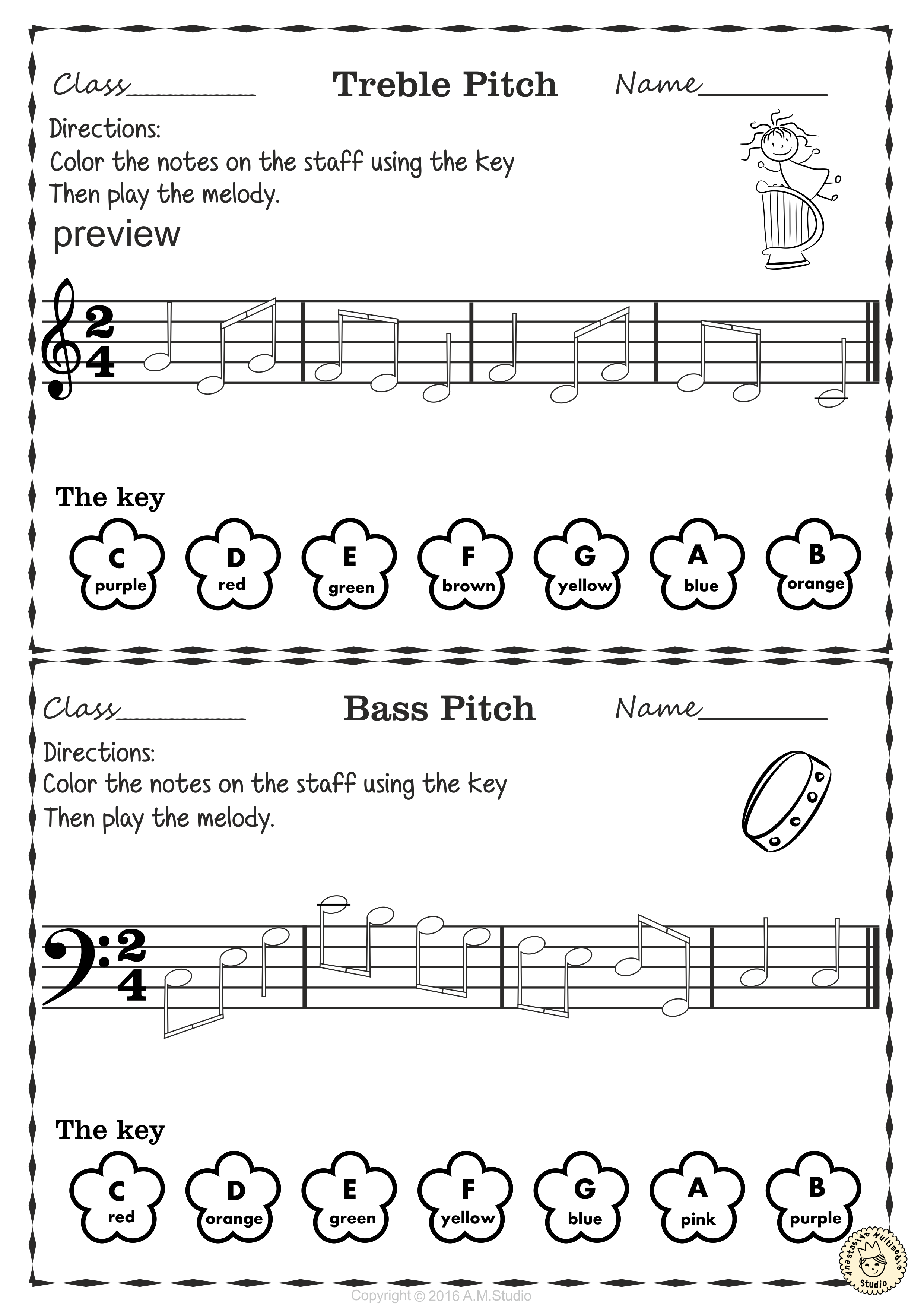 music note coloring pages pdf note naming cards coloring activity music theory note music coloring pages pdf