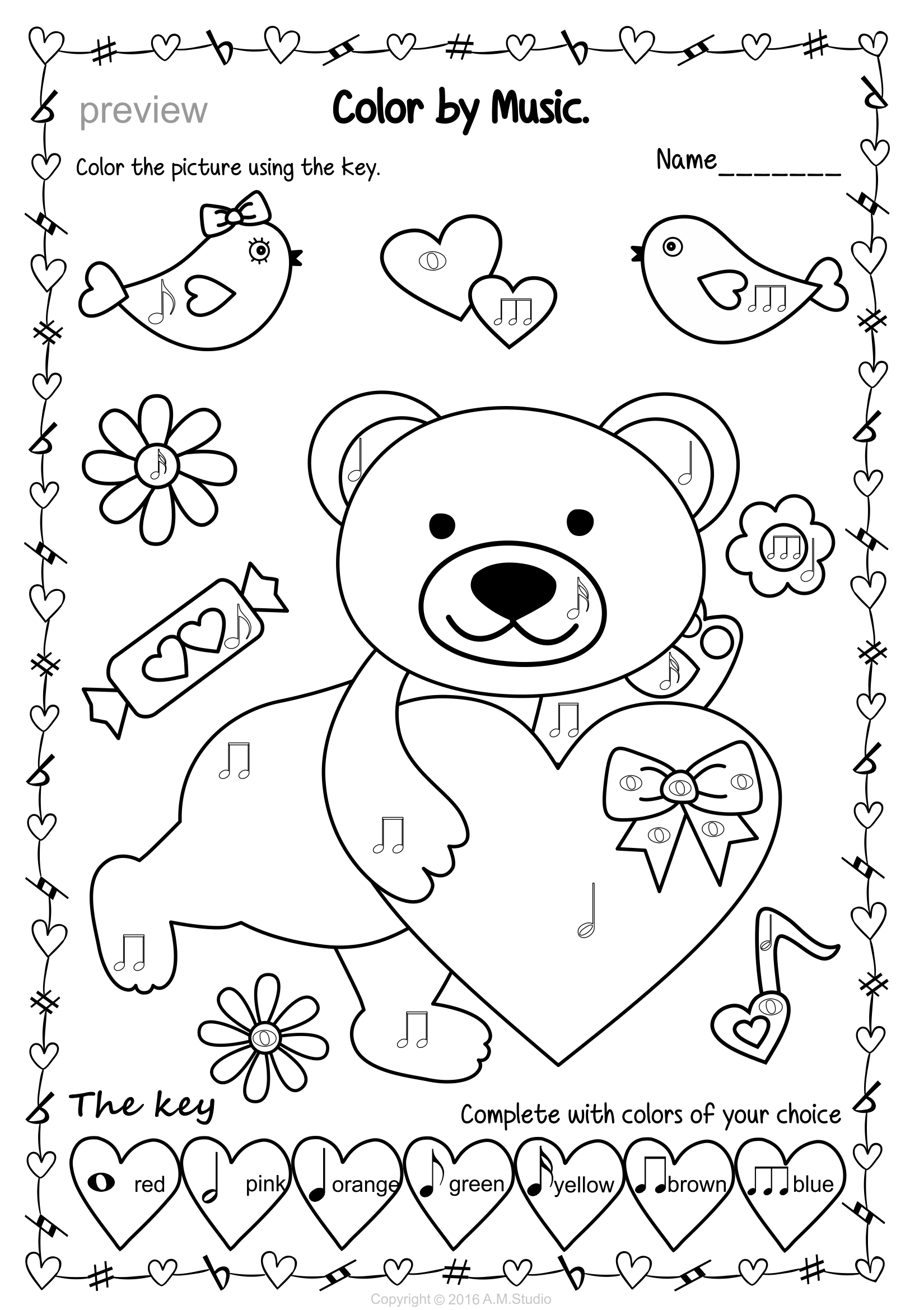 music note coloring pages pdf valentines day color by music bundle music theory music coloring pdf note pages