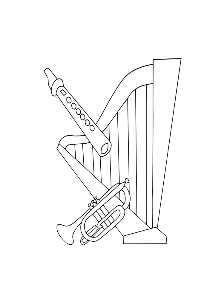 musical instrument coloring pages instrument coloring pages to download and print for free musical coloring instrument pages
