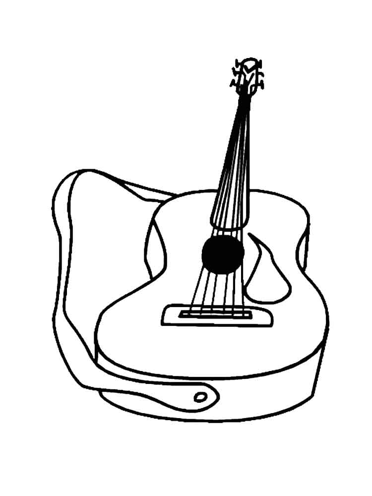 musical instrument coloring pages music instrument coloring page getcoloringpagescom coloring instrument pages musical