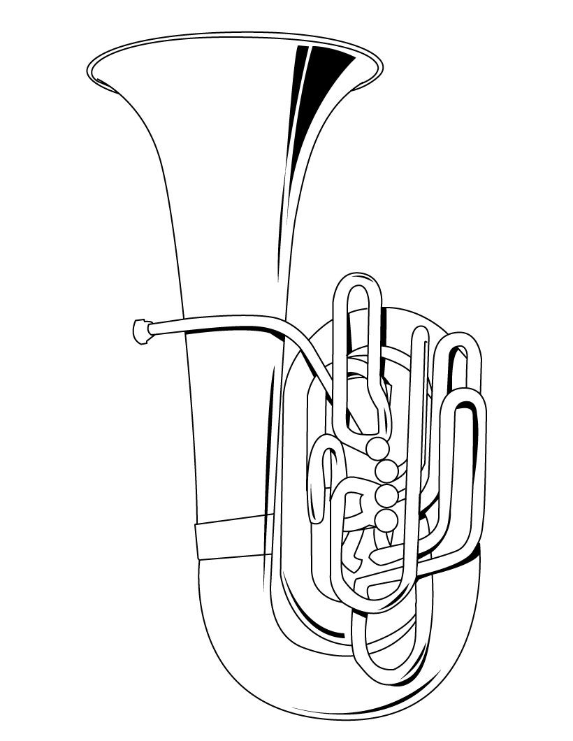 musical instrument coloring pages musical instruments drawings clipartsco pages coloring musical instrument