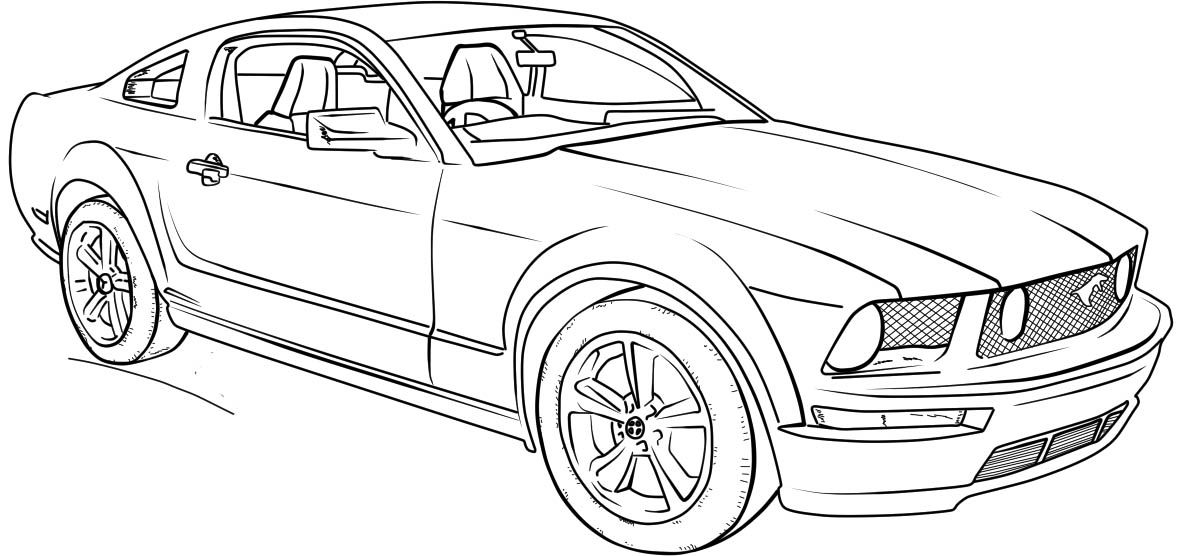 mustang car outline ford mustang gt lineart coloring page classroom doors car mustang outline