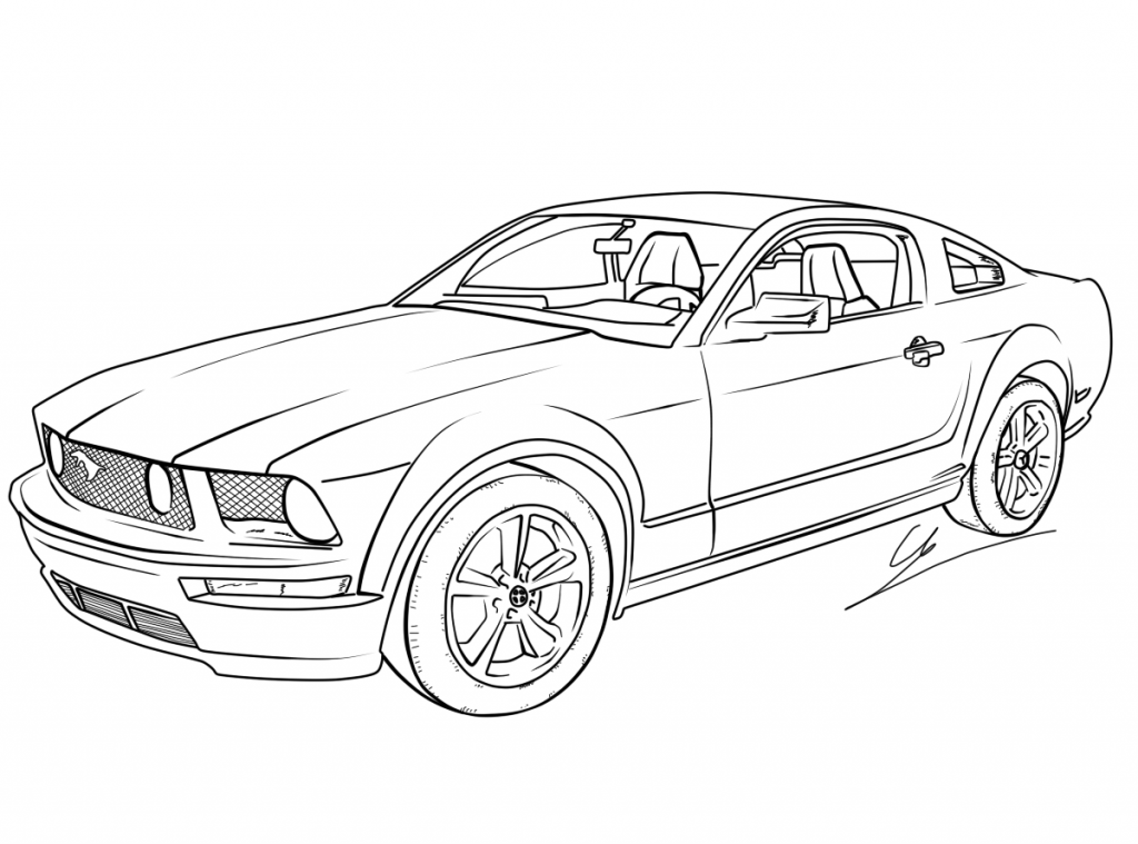 mustang car outline ford mustang line drawing mustang car outline