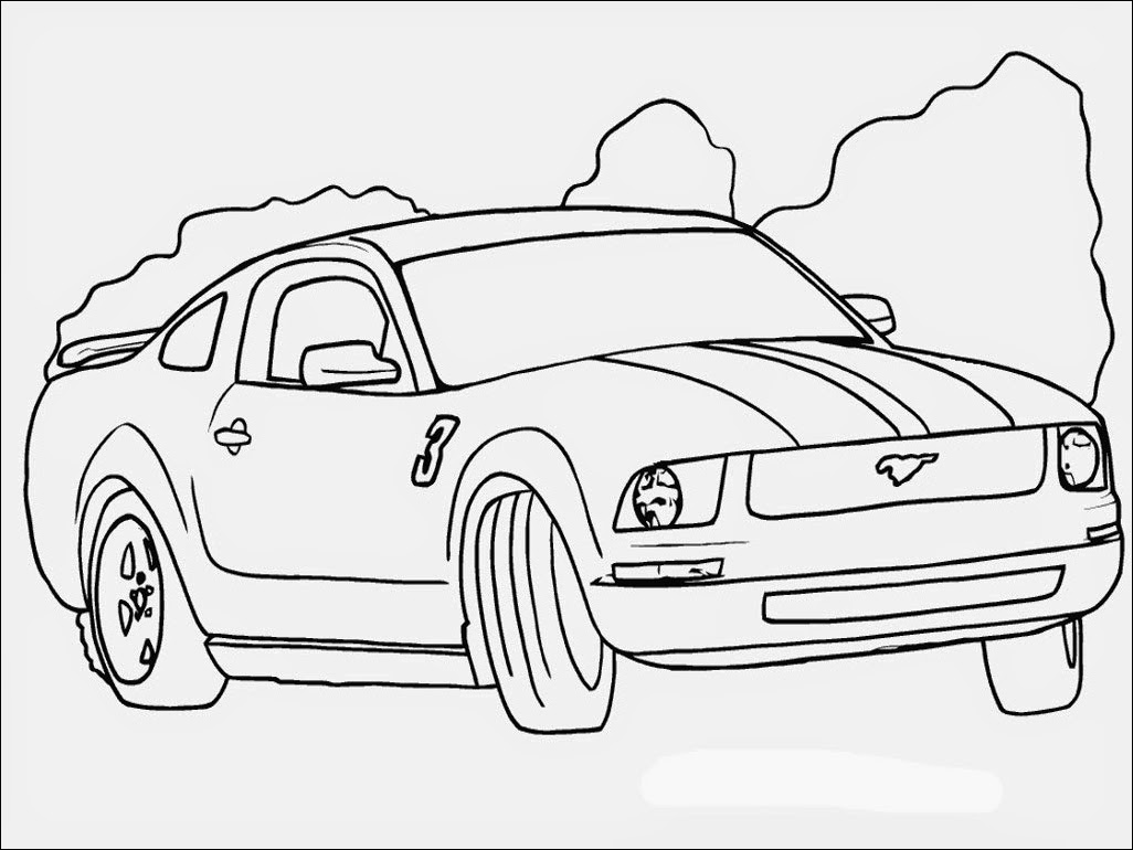 mustang car outline line artautomotive exteriorcompact car drawn gt car mustang outline
