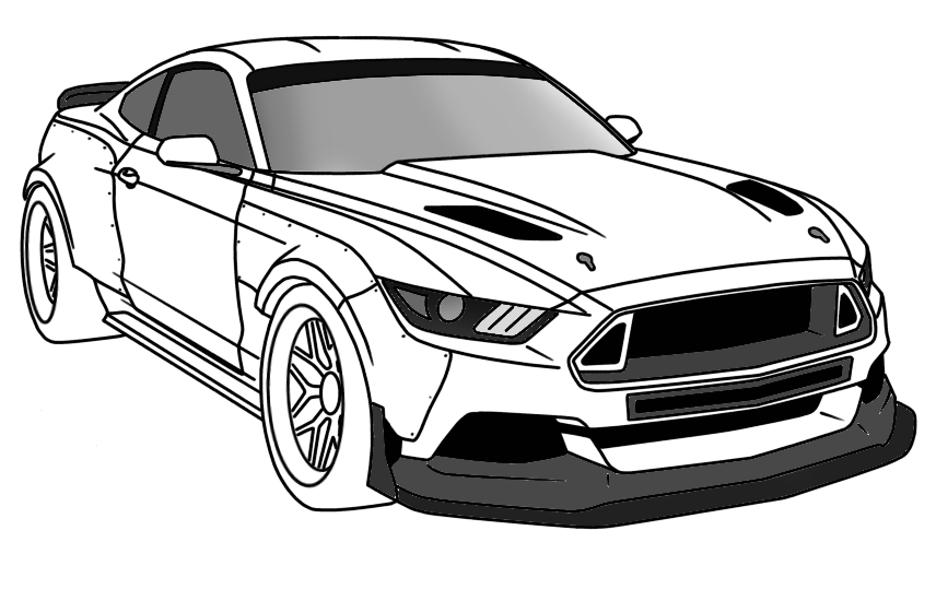 mustang car outline mustang car drawing free download on clipartmag car outline mustang