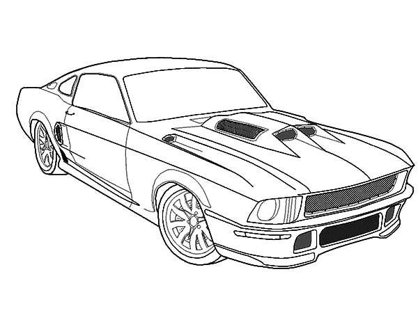 mustang car outline mustang drawing step by step at getdrawings free download outline mustang car