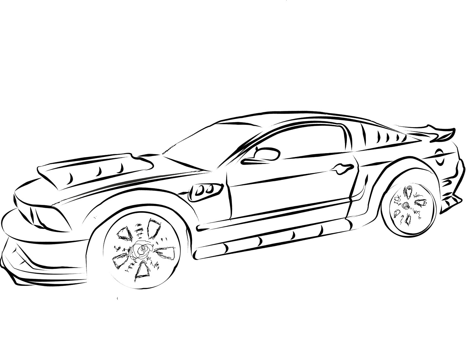 mustang car outline mustang muscle car stock illustration download image now outline car mustang