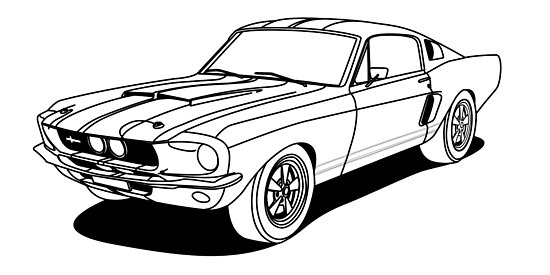 mustang car outline mustang outline drawing at getdrawings free download car mustang outline