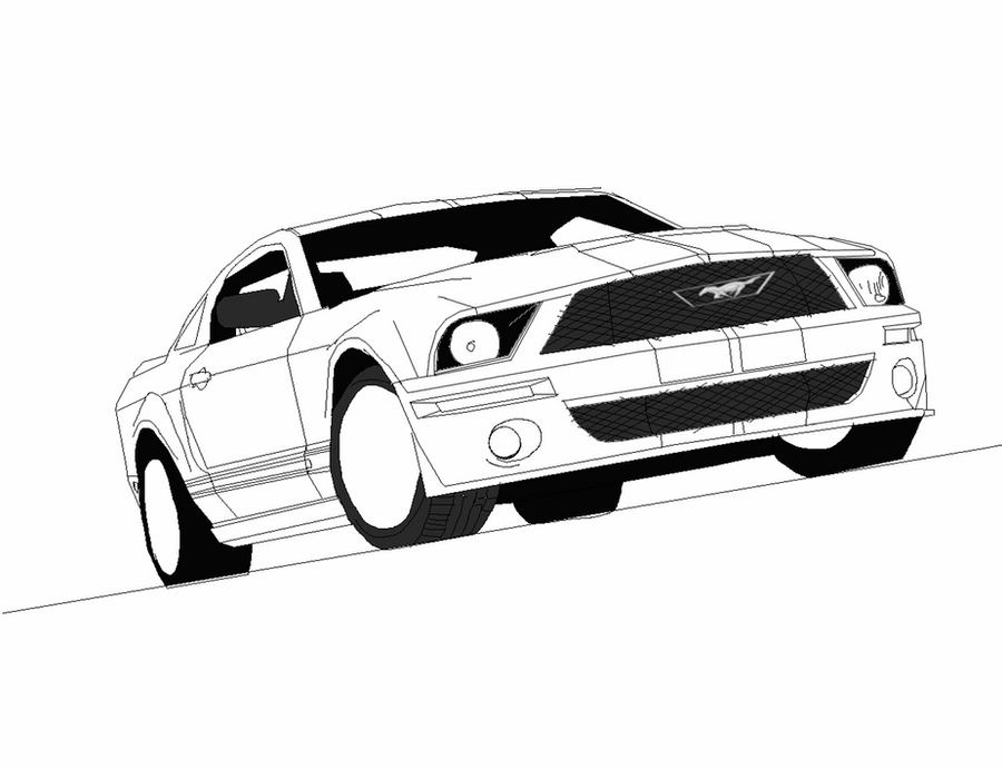 mustang car outline mustang outline drawing at getdrawings free download mustang car outline