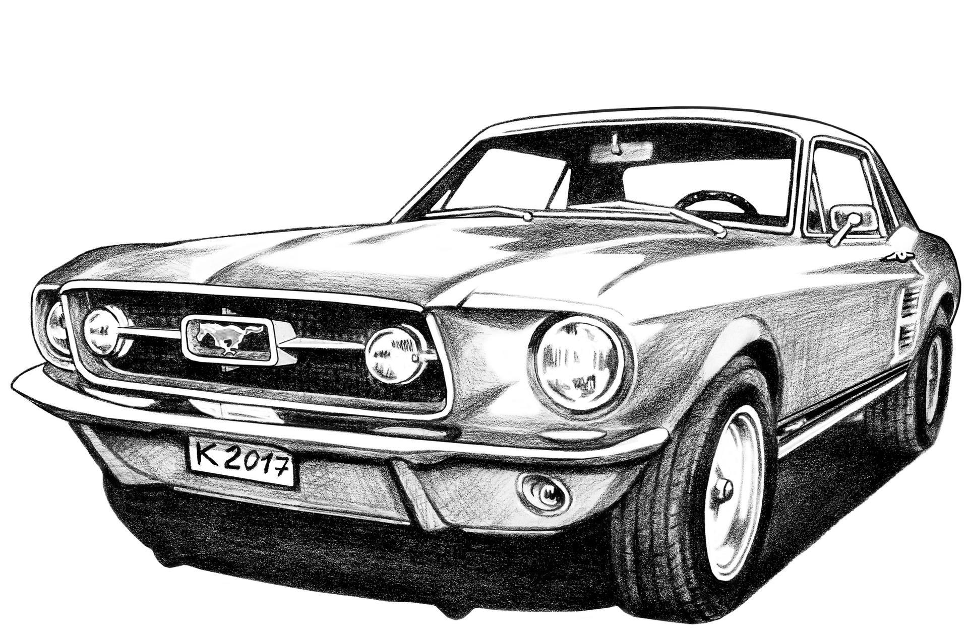 mustang car outline quick sketch of a 1988 ford mustang gt scottdesigner outline car mustang