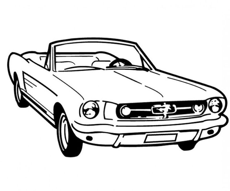 mustang car outline quotold school mustang outlinesquot poster by megalawlz redbubble mustang car outline