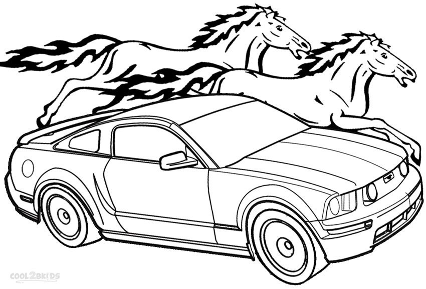 mustang coloring page ford mustang car coloring page coloring mustang page