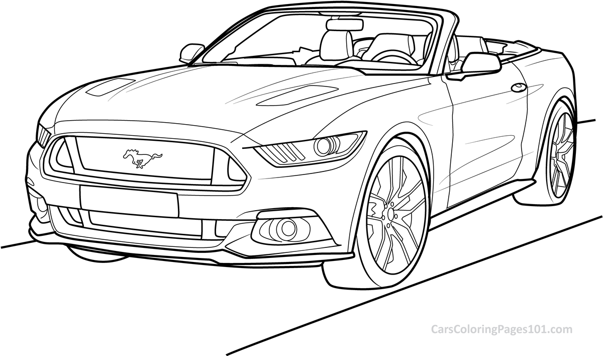 mustang coloring page ford mustang gt 2015 rear view coloring page free coloring page mustang