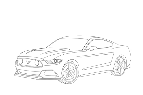 mustang drawing outline 12 vector mustang side images ford mustang vector art mustang outline drawing