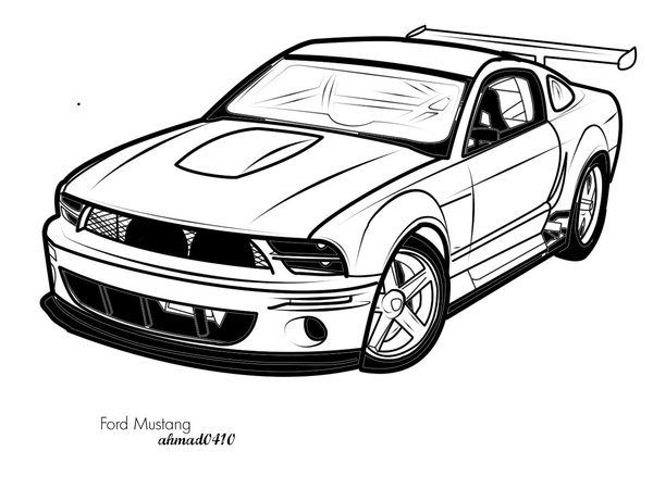mustang drawing outline 2001 ford mustang by rabebabe on deviantart outline mustang drawing