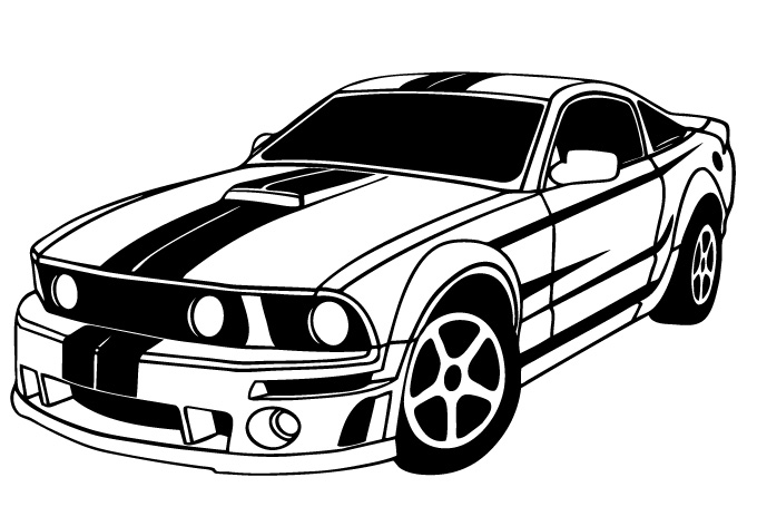 mustang drawing outline mustang outline drawing at paintingvalleycom explore outline drawing mustang