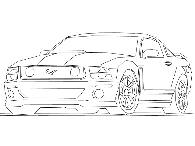 mustang drawing outline saleen mustang outline by maximesz on deviantart outline drawing mustang