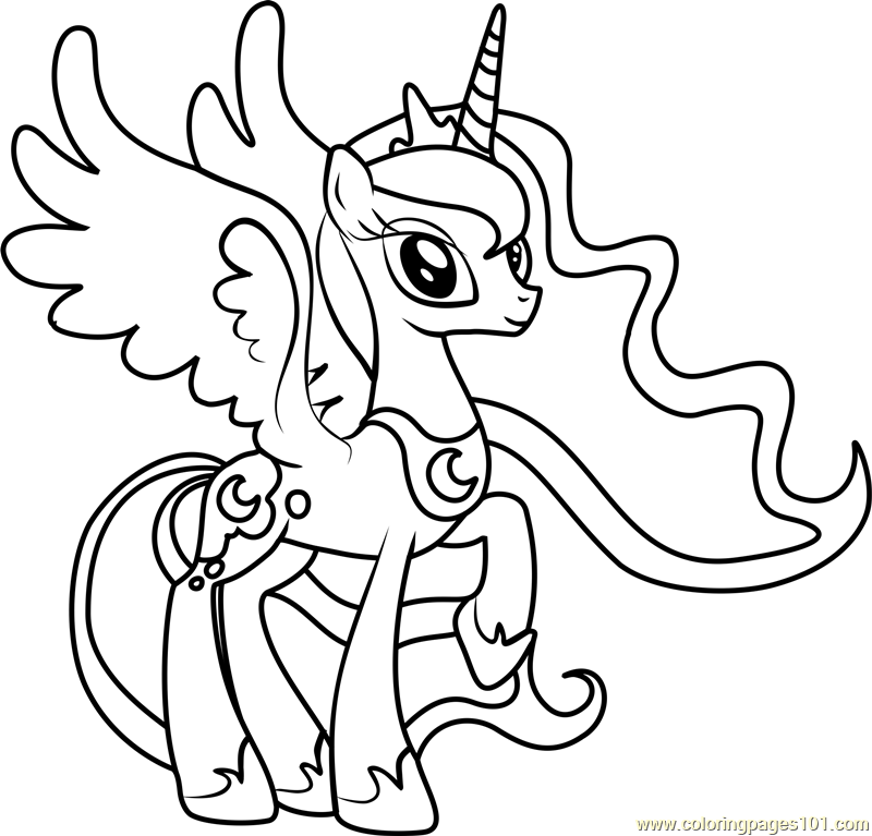 my little pony friendship is magic coloring pages luna coloring pages of princess luna my little pony coloring friendship coloring luna little magic pages pony is my