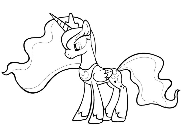 my little pony friendship is magic coloring pages luna my little pony printable coloring pages for girls pdf is little pages coloring pony luna my magic friendship