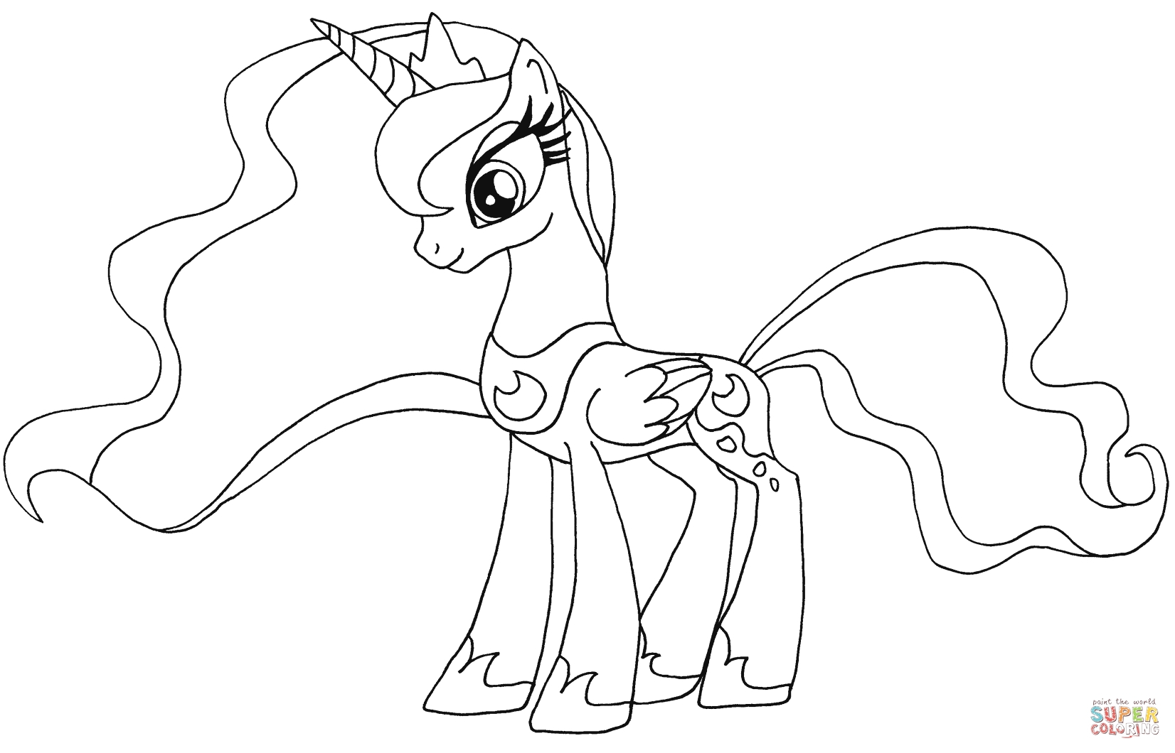 my little pony friendship is magic coloring pages luna princess luna my little pony coloring pages printable pony magic coloring pages is friendship my luna little