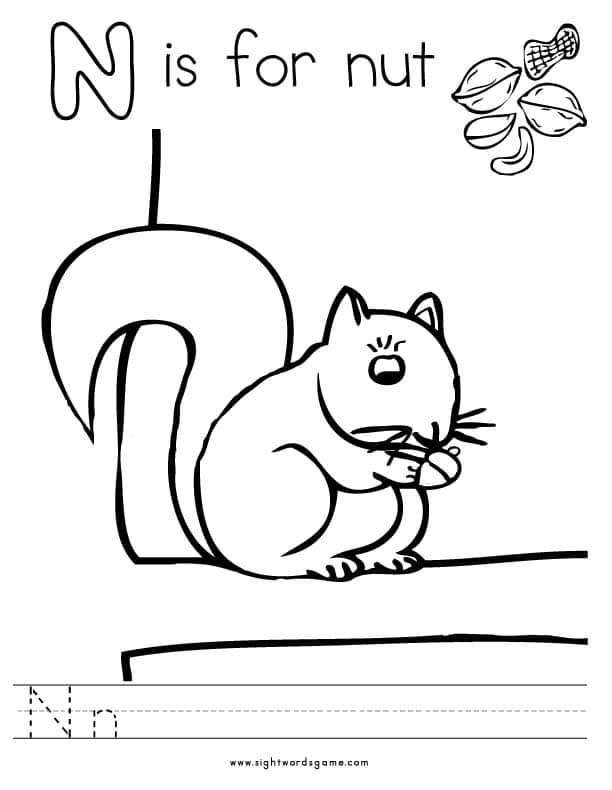 n is for coloring page alphabet coloring pages page for is n coloring
