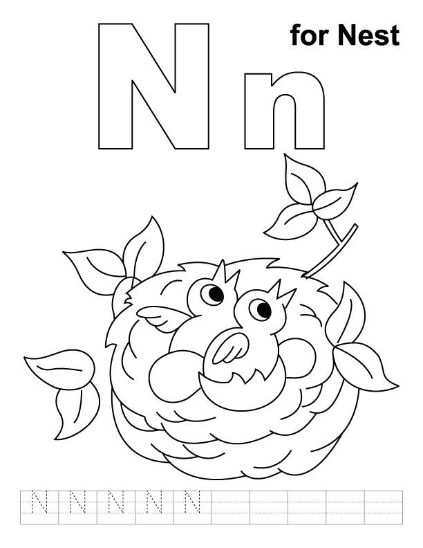 n is for coloring page n is for narwhal printable tim39s printables page n is coloring for