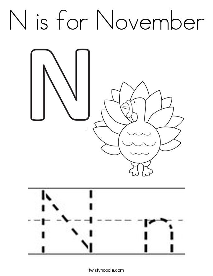n is for coloring page n is for november coloring page twisty noodle is n coloring for page