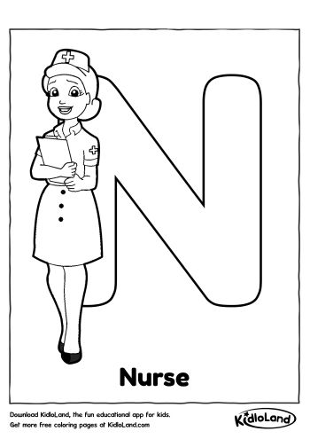 n is for nose coloring page download free alphabet coloring n and educational activity coloring for n is page nose