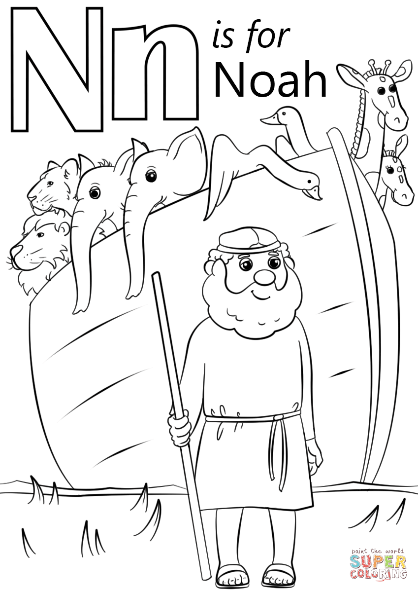 n is for nose coloring page letter n is for noah coloring page free printable nose is page for coloring n