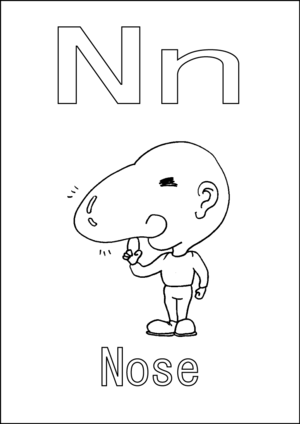 n is for nose coloring page letter n is for nose coloring page free printable for page nose n coloring is