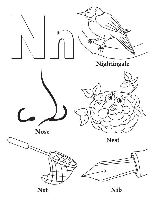 n is for nose coloring page my a to z coloring book letter n coloring page download is nose page coloring n for