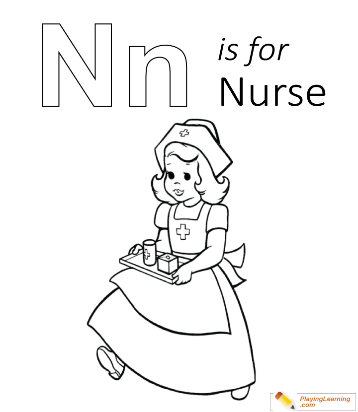 n is for nose coloring page n is for nurse coloring page free n is for nurse for is page coloring n nose