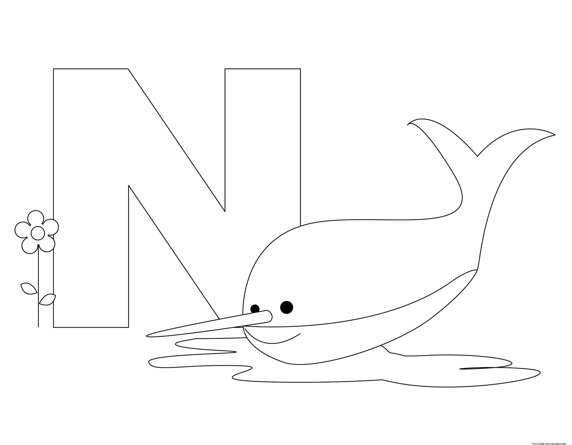 n is for nose coloring page printable animal alphabet letter n is for nurse shark is coloring nose for page n