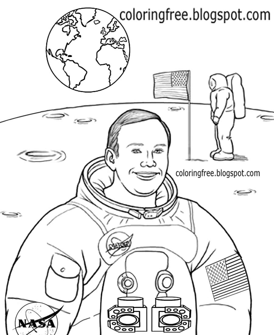 nasa astronaut coloring pages a realistic image of astronaut in the moon coloring page astronaut pages coloring nasa