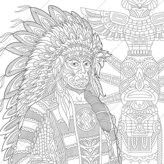 native art coloring pages native american awesome native american chief poster coloring native pages art