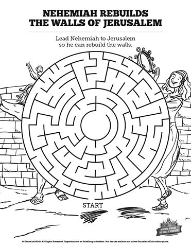 nehemiah coloring page nehemiah builds the wall coloring page divyajananiorg page coloring nehemiah