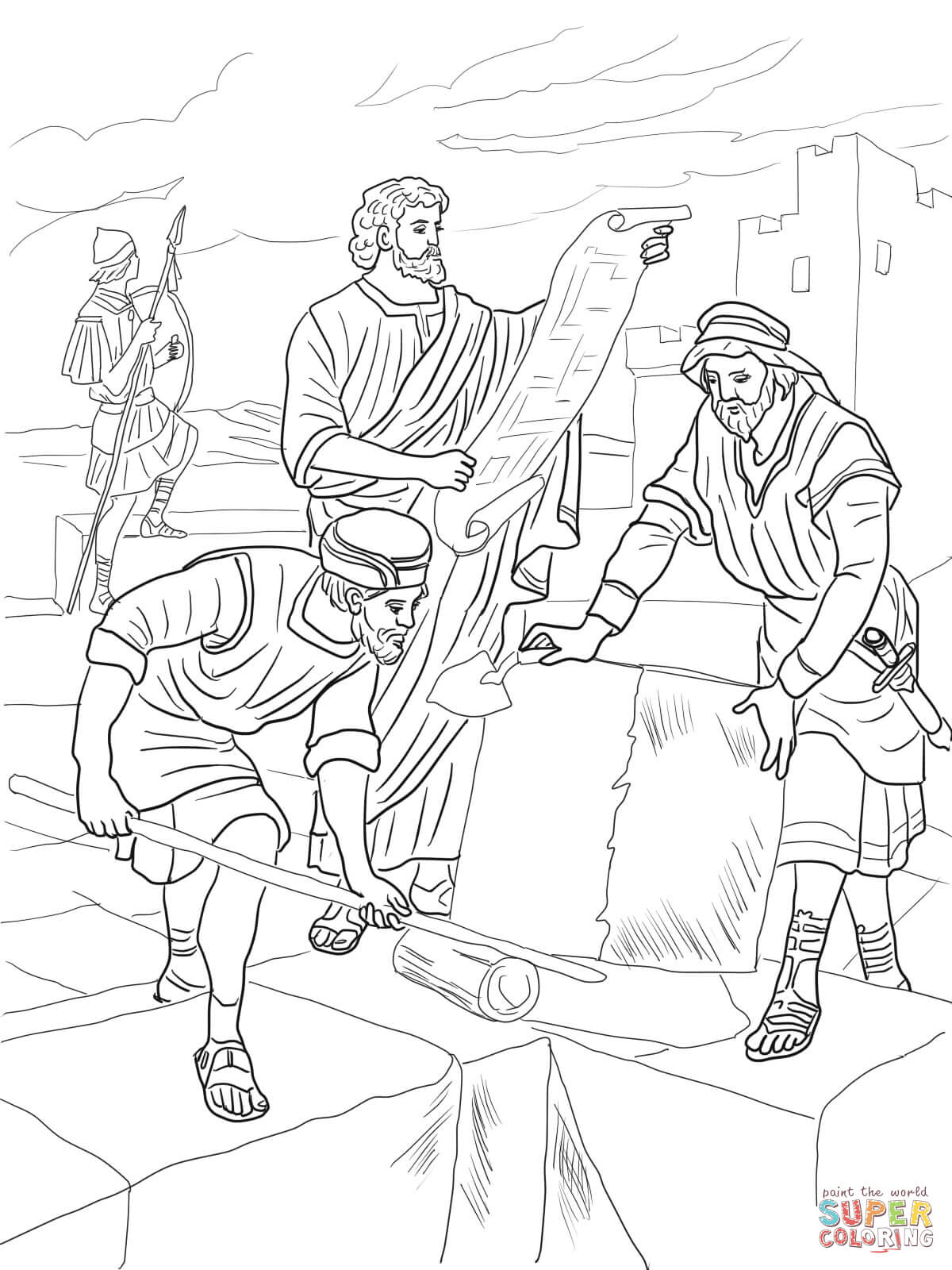 nehemiah coloring page nehemiah coloring pages craft coloring pages nehemiah coloring page