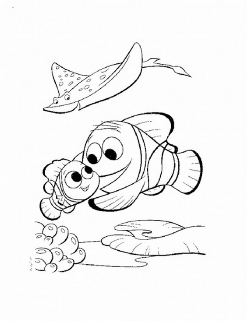 nemo coloring free printable nemo coloring pages for kids coloring nemo 1 2