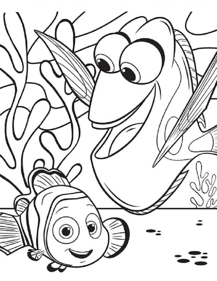 nemo coloring nemo coloring pages coloring pages to print nemo coloring 1 2