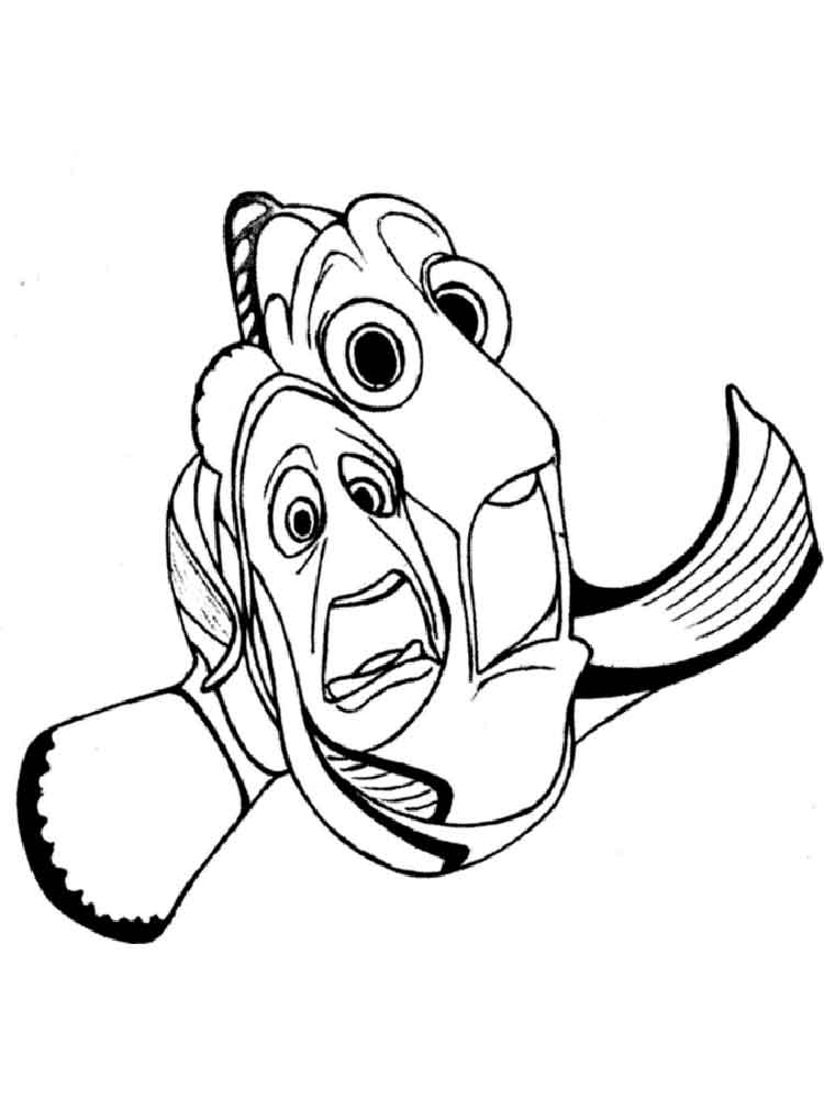 nemo coloring nemo fish clipart at getdrawings free download nemo coloring