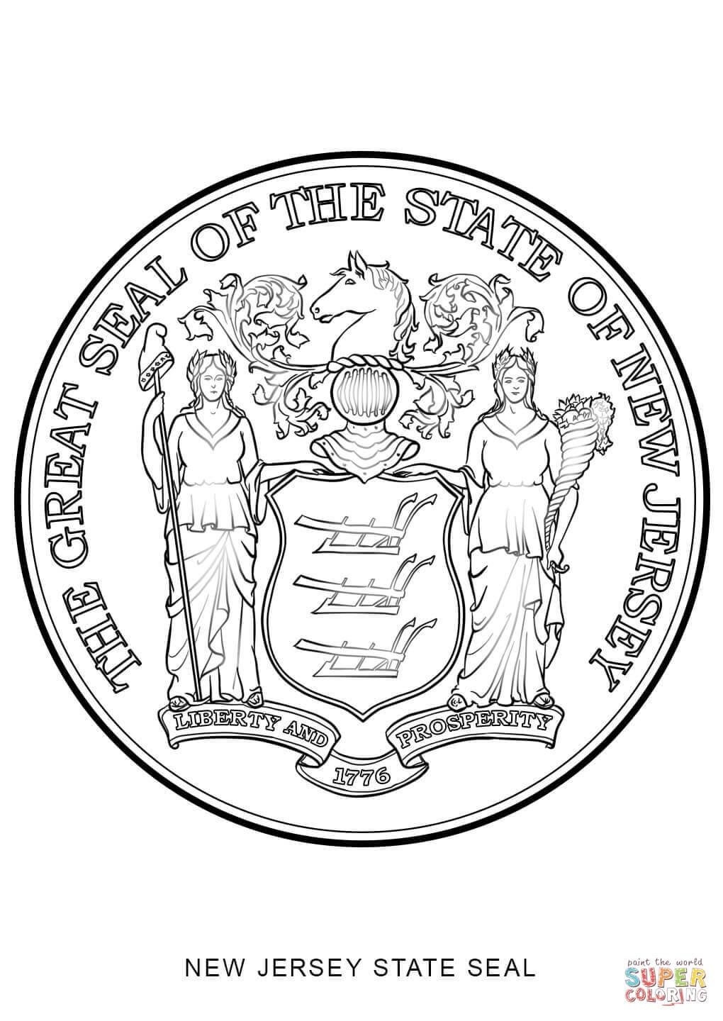 new jersey state tree new jersey state seal coloring page free printable state new tree jersey