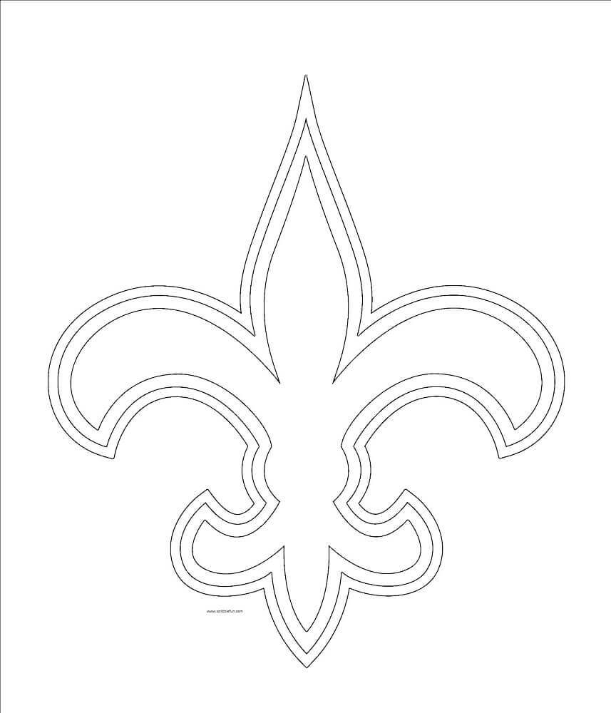 new orleans saints color pages new orleans saints coloring page coloring home color saints orleans pages new