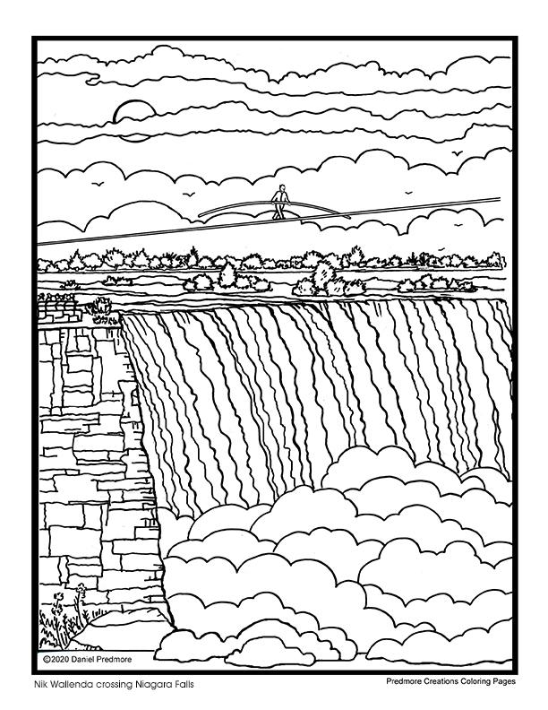 niagara falls coloring pages 25 best images about canada coloring pages on pinterest coloring falls pages niagara