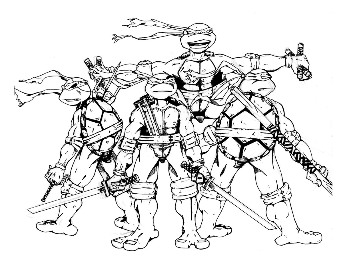 ninja turtle color sheets teenage mutant ninja turtles in action colouring pages for turtle color ninja sheets