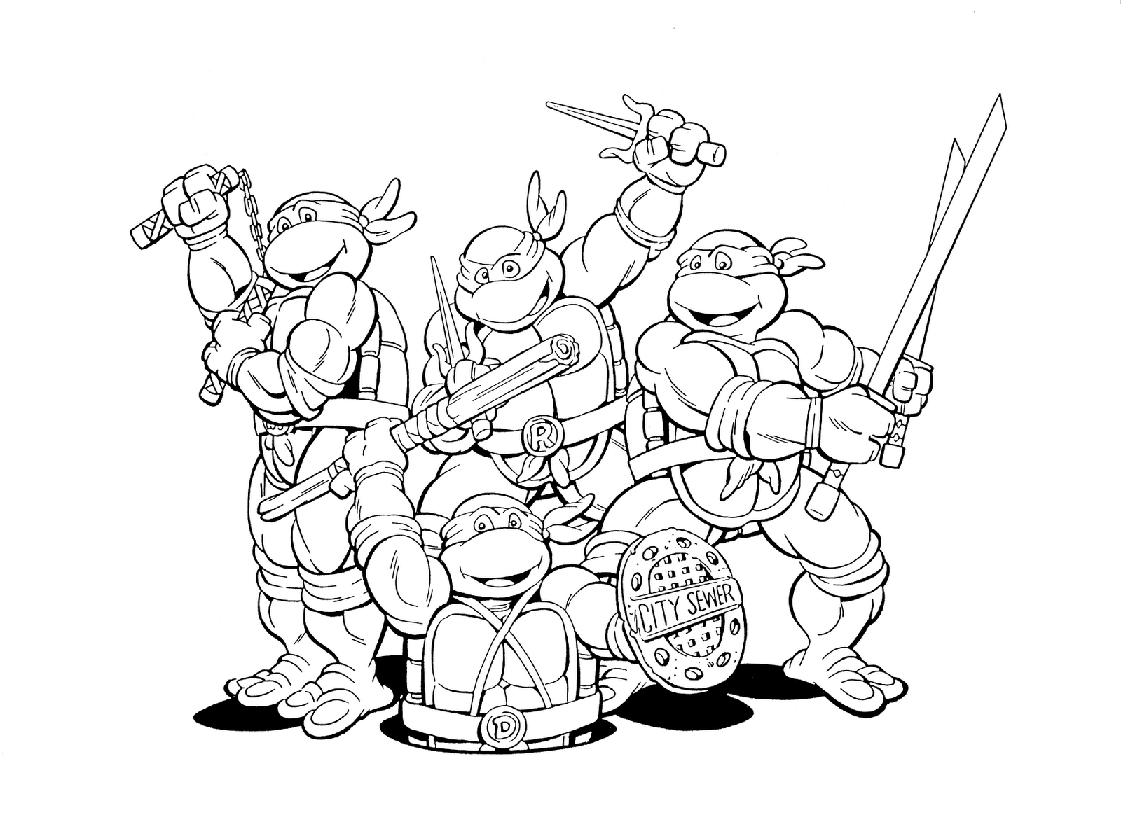 ninja turtle coloring pages easy teenage mutant ninja turtle coloring pages coloring coloring ninja pages turtle