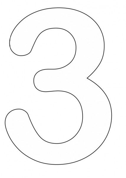 number 3 coloring pages preschool 3 template preschool number crafts coloring pages 3 preschool coloring number pages
