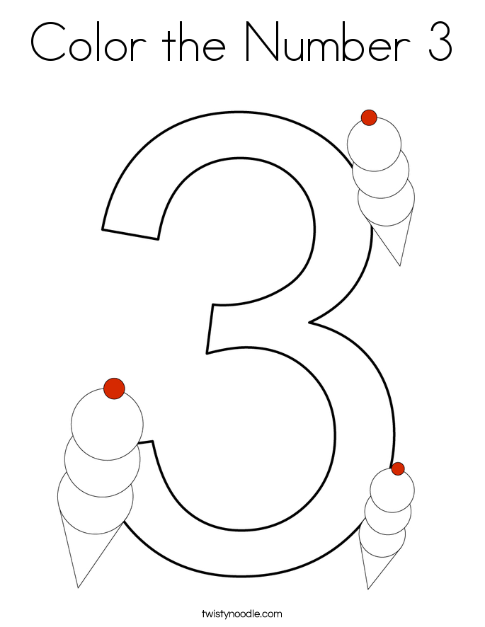 number 3 coloring pages preschool color the number 3 coloring page twisty noodle number pages preschool coloring 3