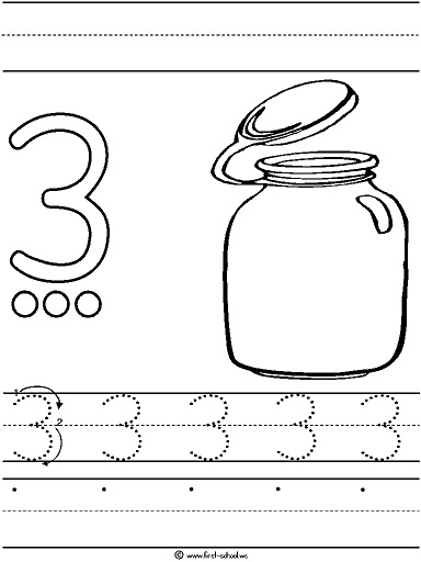 number 3 coloring pages preschool number 3 three tracing and coloring worksheets 3 pages number preschool coloring