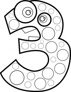 number 3 coloring pages preschool numbers coloring page crafts and worksheets for number preschool pages coloring 3