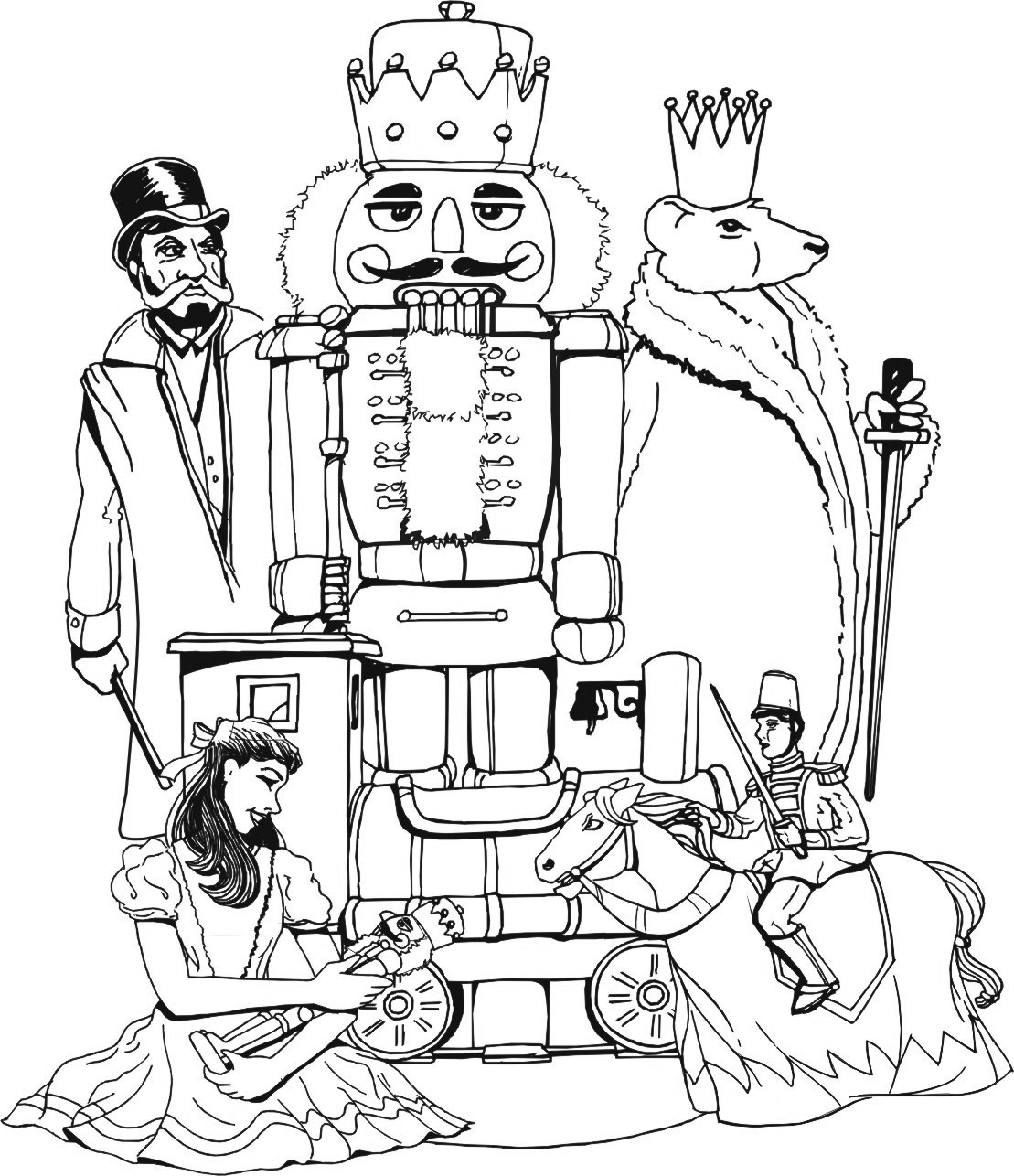 nutcracker coloring page nutcracker coloring page free printable coloring pages nutcracker coloring page